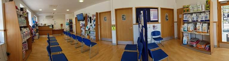 Reception At Park Hill Vets In Wetherby